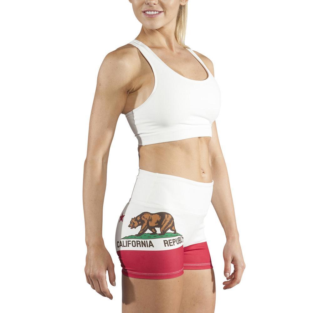 f136e1aa835 Woman's Spandex Bear Flag Shorts | Bear Flag Museum