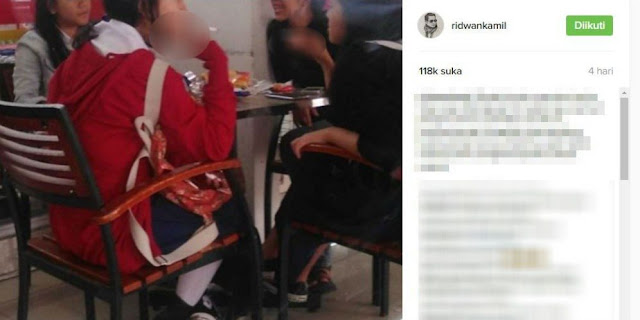 Maraknya Aksi Siswa Dan Siswi Yang Merokok, Begini Reaksi Ridwan Kamil