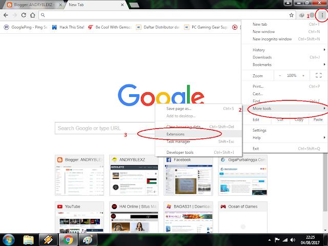 Tips membuka situs yang di blokir di google chrome versi andryblexz