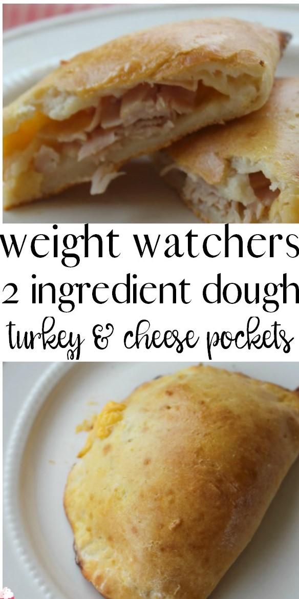 Weight Watchers 2 Ingredient Dough Turkey and Cheese Pockets #weightwatcher #twoingredients #dought #turkey #cheese #pocket