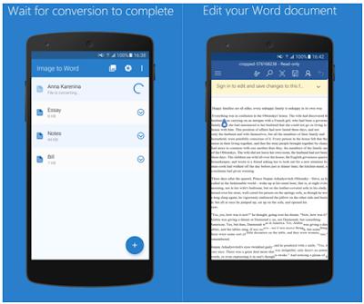 Cara Merubah Gambar Dokumen ke Word di Android