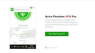 تفعيل Avira Phantom VPN Pro