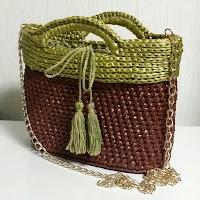 スリーウェイお出かけファッションバッグが出来ました,crochet bag of PE tape,fashion items,すずらんテープの鈎編みバッグ,ファッションアイテム,PE塑料带的钩针编织包包,服饰流行