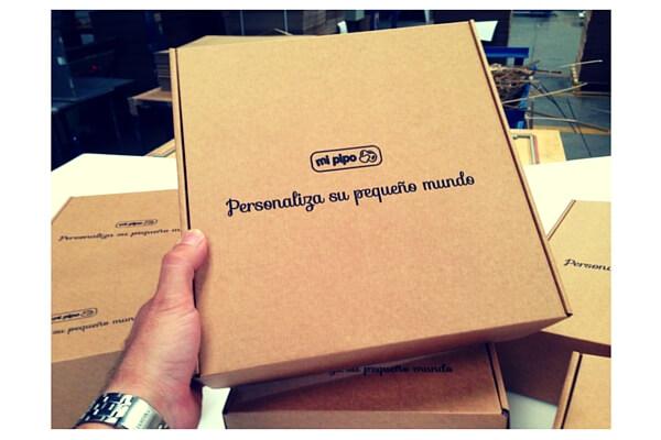 cajas para tiendas puericultura online.