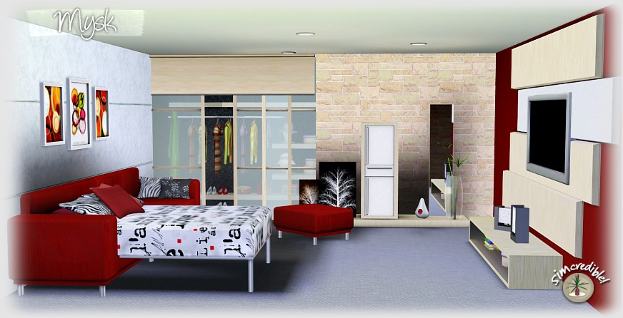 My Sims 3 Blog: Mysk Bedroom Set by Simcredible Designs