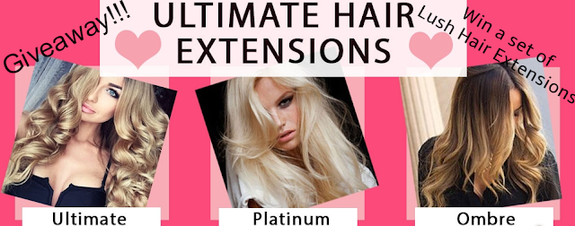 Lush hair extensions - giveaway - win - blog giveaway - Human hair extensions