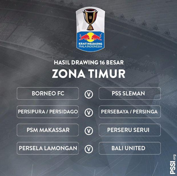 Hasil Undian Babak 16 Besar Piala Indonesia