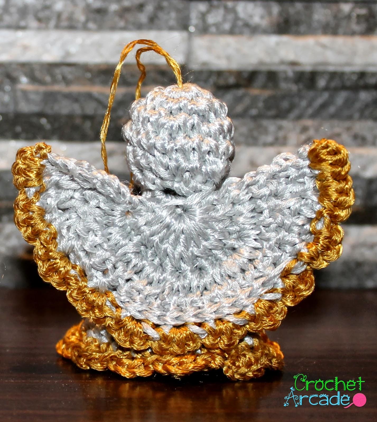 Crochet Angel Christmas Ornament Free Pattern – Crochet Arcade