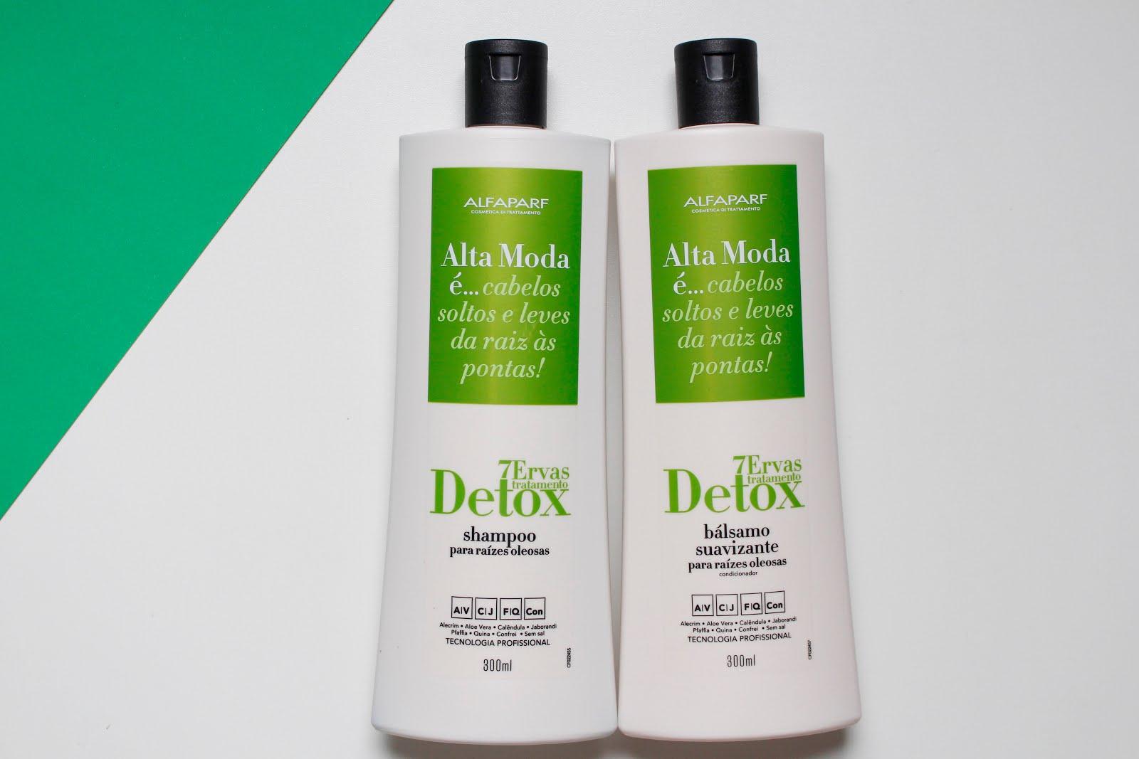 Tratamento Detox 7 ervas da Alfaparf - Blog Cris Felix
