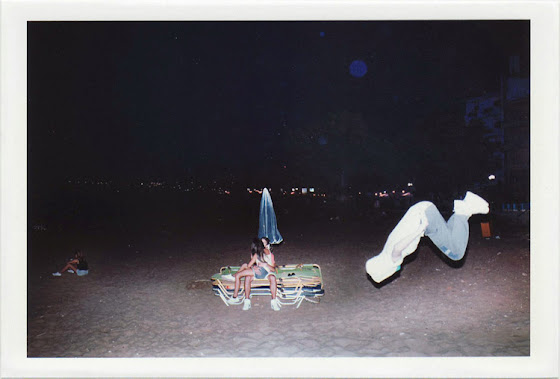 dirty photos - umbra - a night street photo of BEACH MAN JUMPING