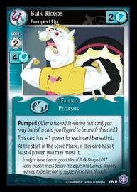 My Little Pony Bulk Biceps, Pumped Up The Crystal Games CCG Card