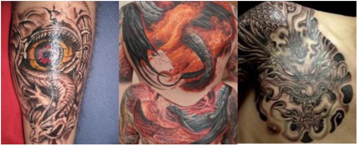 Projekt Ink świat W Kolorowych Barwach Znaczenia Tatuaży