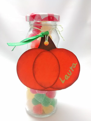 Frasco caramelos con etiqueta personalizada