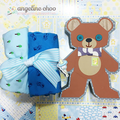 SVG Attic: Beary Sweet Box with Angeline #svgattic #scrappyscrappy #bearysweet #giftbox #baby #svg #cutfile