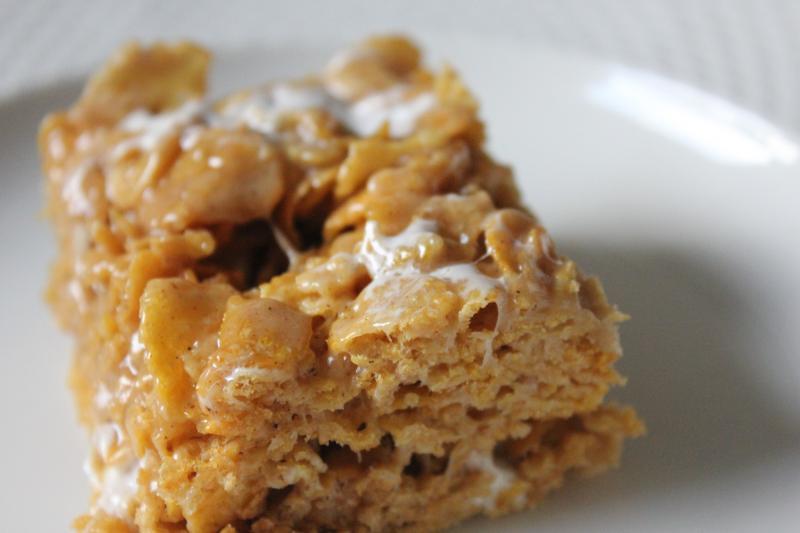 Peanut Butter Cornflake Marshmallow Bars by freshfromthe.com