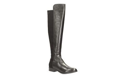 Clarks Caddy Belle Black Leather Boots
