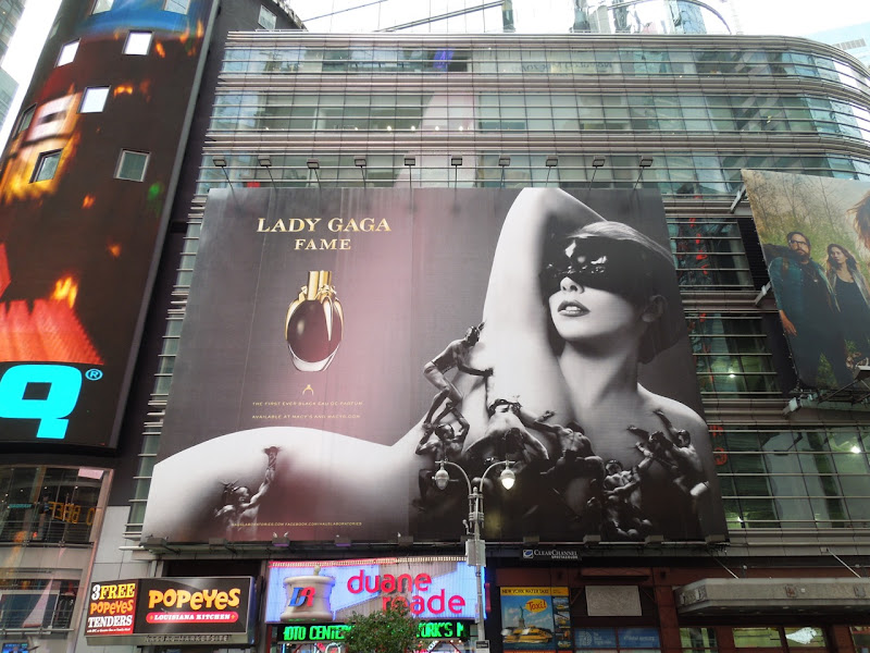 Lady Gaga Fame fragrance billboard Times Square