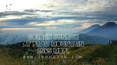 golden sunrise di gunung prau dieng, jalur pendakian patak banteng, bermalam di gunung prau, tips mendaki gunung prau, matahari terbit di gunung prau, jalur dieng gunung prau