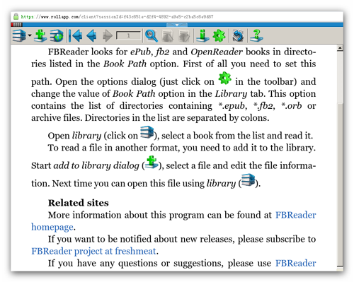 rollApp File Opener ebook Chrome Extension