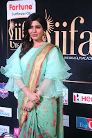 Samantha Ruth Prabhu Smiling Beauty in strange Designer Saree at IIFA Utsavam Awards 2017  Day 2  Exclusive 37.JPG