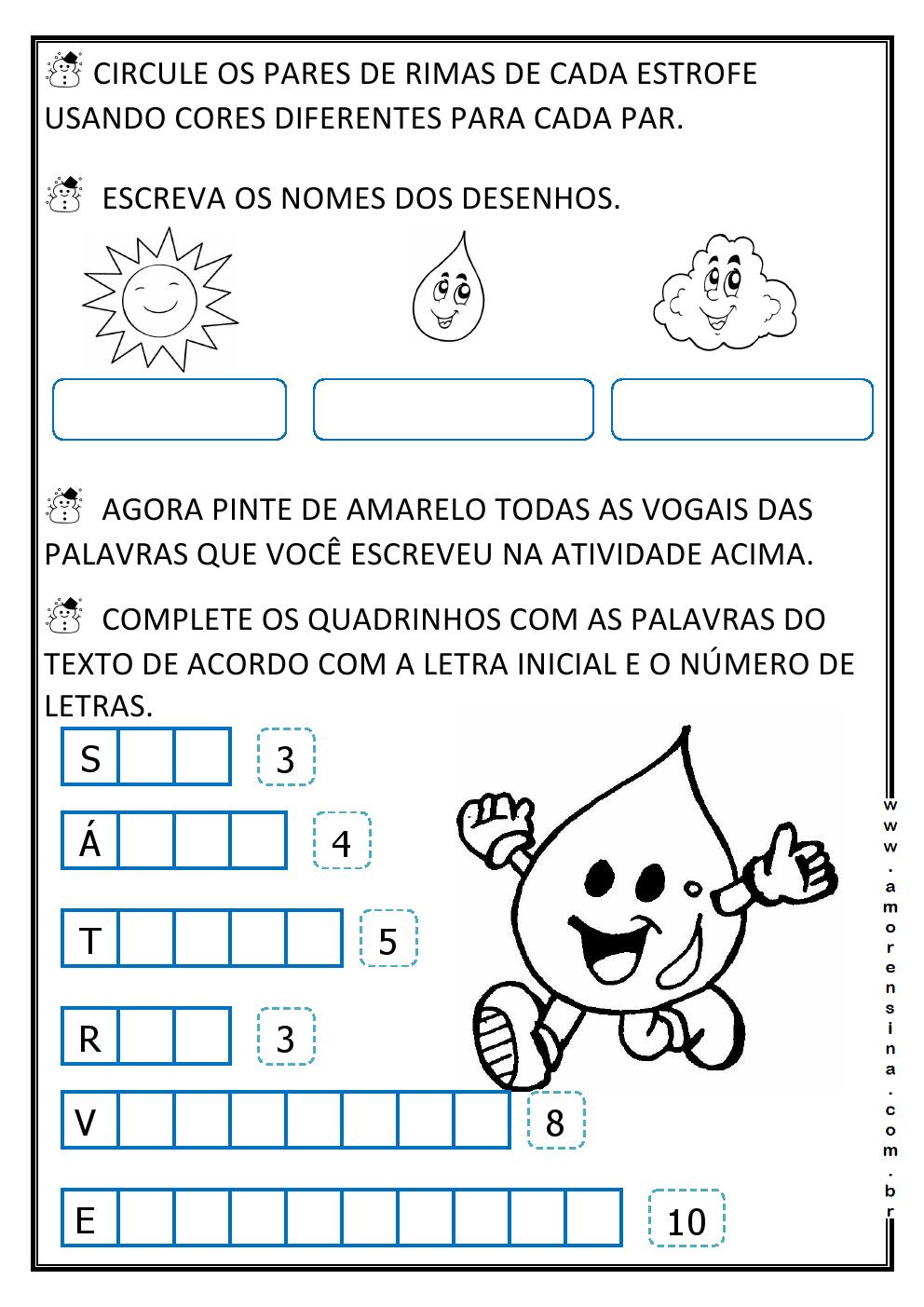Favoritos O PASSEIO DA GOTINHA! INTERDISCIPLINAR/ CICLO DA ÁGUA / 1º ANO  GM92