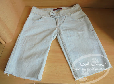 DIY spodenki na lato z długich spodni
