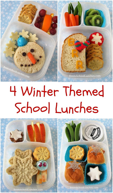 4 Winter Themed School Lunches