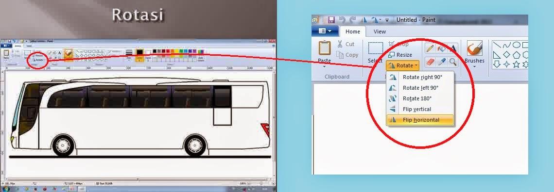 Desain Langkah Langkah Membuat Gambar Bus Menggunakan Aplikasi Paint
