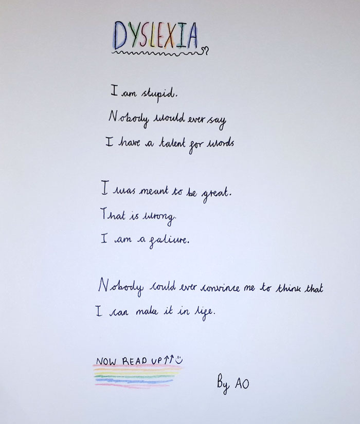 10-Year-Old Student Amazes Her Teacher With A Brilliant Poem About Dyslexia That Is Read Both Forward And Backward