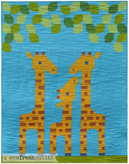 Sew Fresh Quilts: Family of Three for Quiltmaker Magazine : giraffe baby quilt pattern - Adamdwight.com