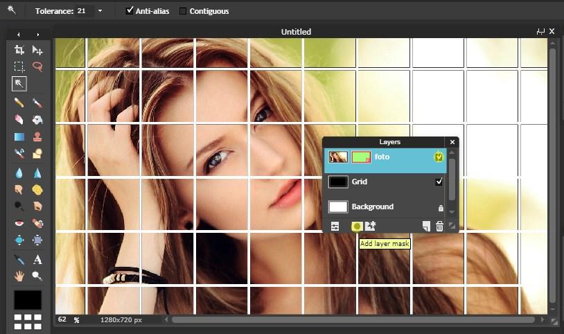 Membuat Efek Grid Foto