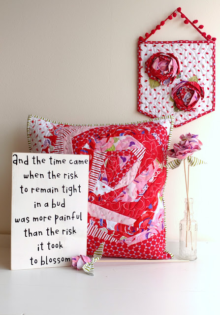 use fabric to create rose themed home decor