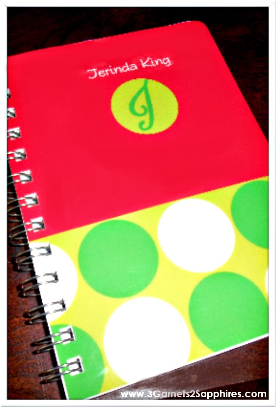Personalized journal notebook | www.3Garnets2Sapphires.com