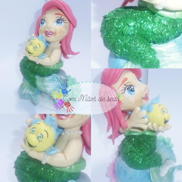 Topo de Bolo - Princesa Ariel baby