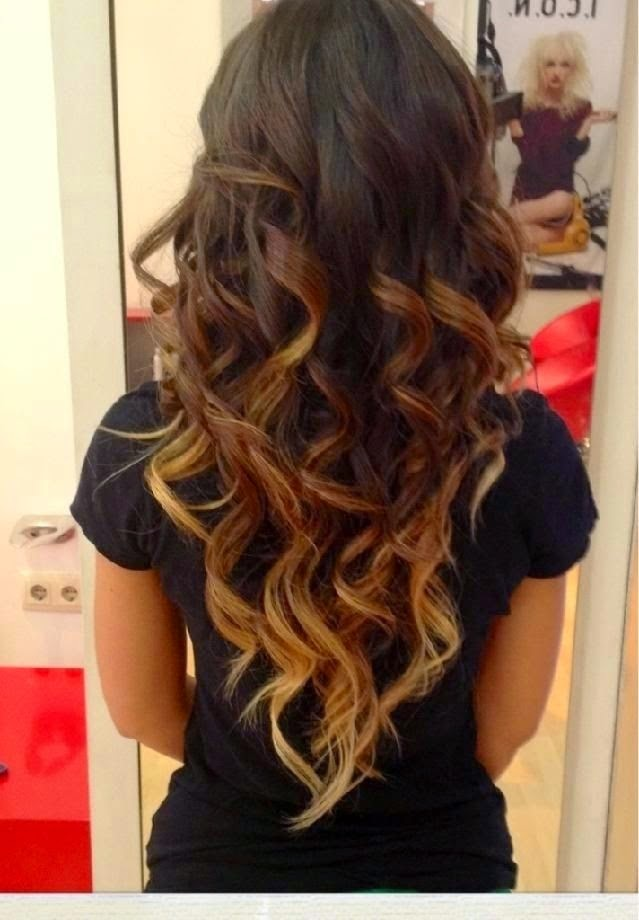 Cute Hairstyles for Long Hair Dark Brown to Light Brown To Blonde Ombre}