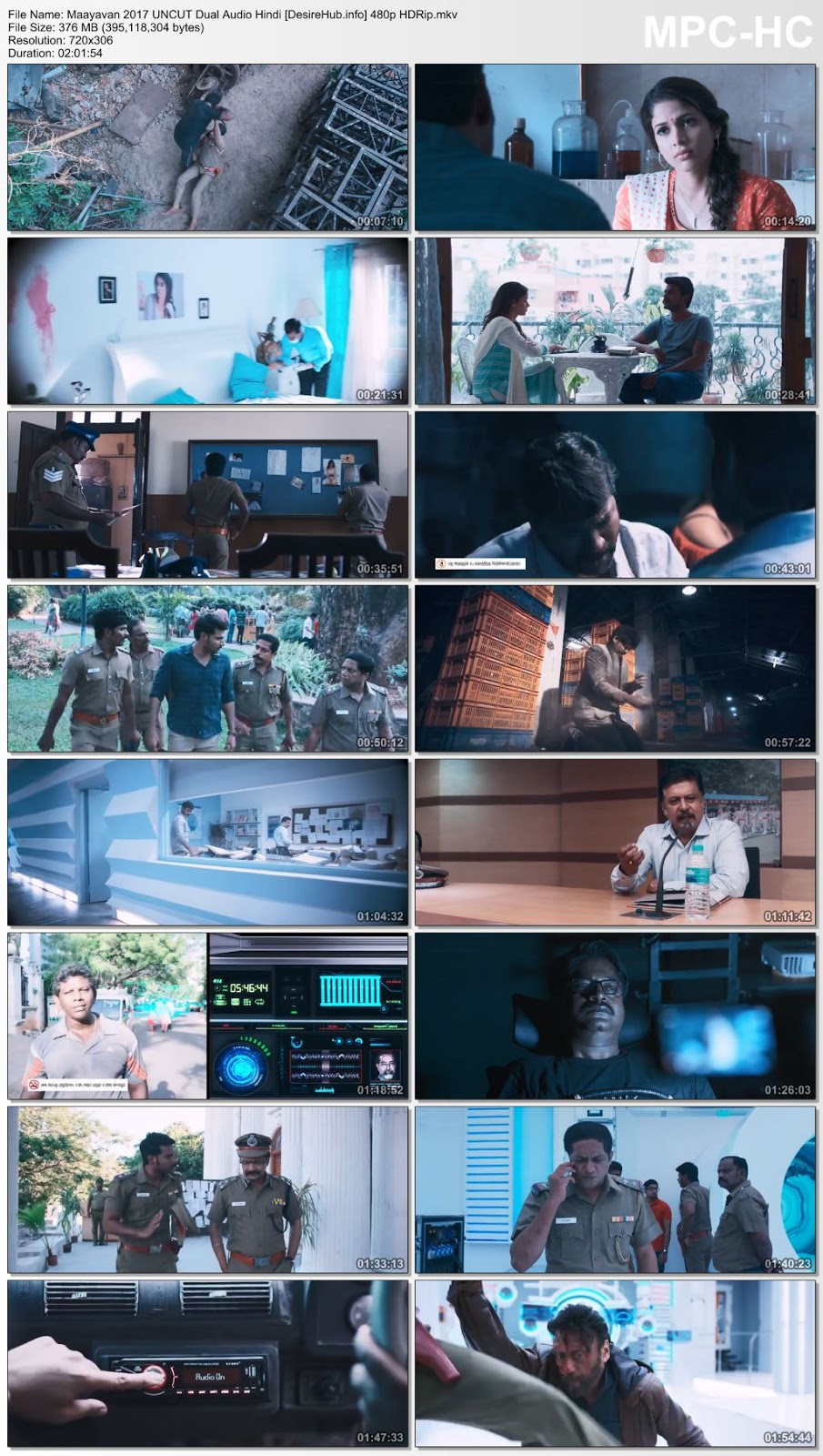 Maayavan 2017 UNCUT Dual Audio Hindi 720p HDRip 990MB Desirehub