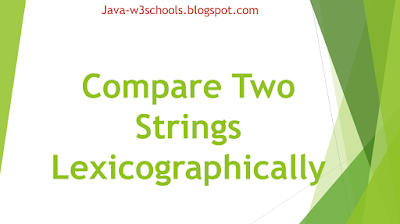 Compare Two Strings Lexicographicall