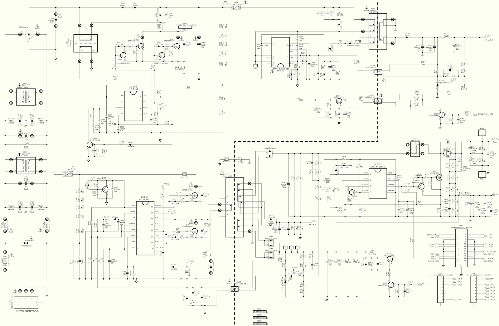 Eay Led Tv Power Schematic
