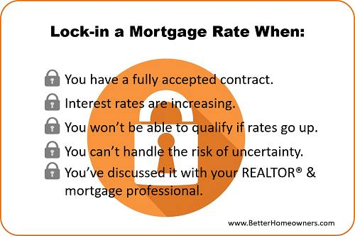 How long do interest rate locks last on a Kentucky mortgage loan?