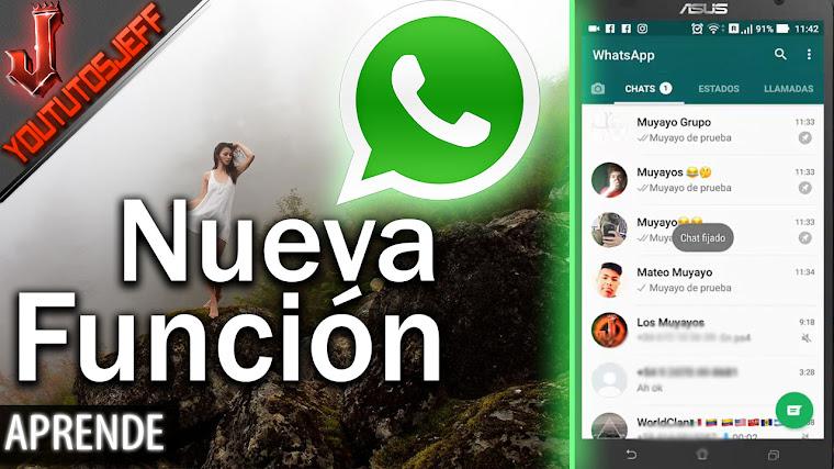 Nueva función de WhatsApp 2017