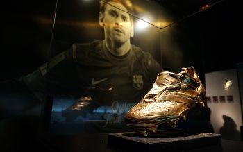 Wallpaper: Lionel Messi in Barcelona Museum