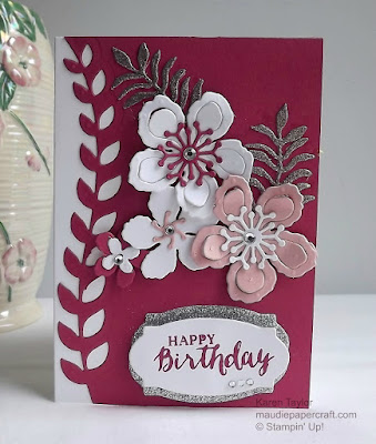 Stampin' Up Botanical Builder framelits dies card