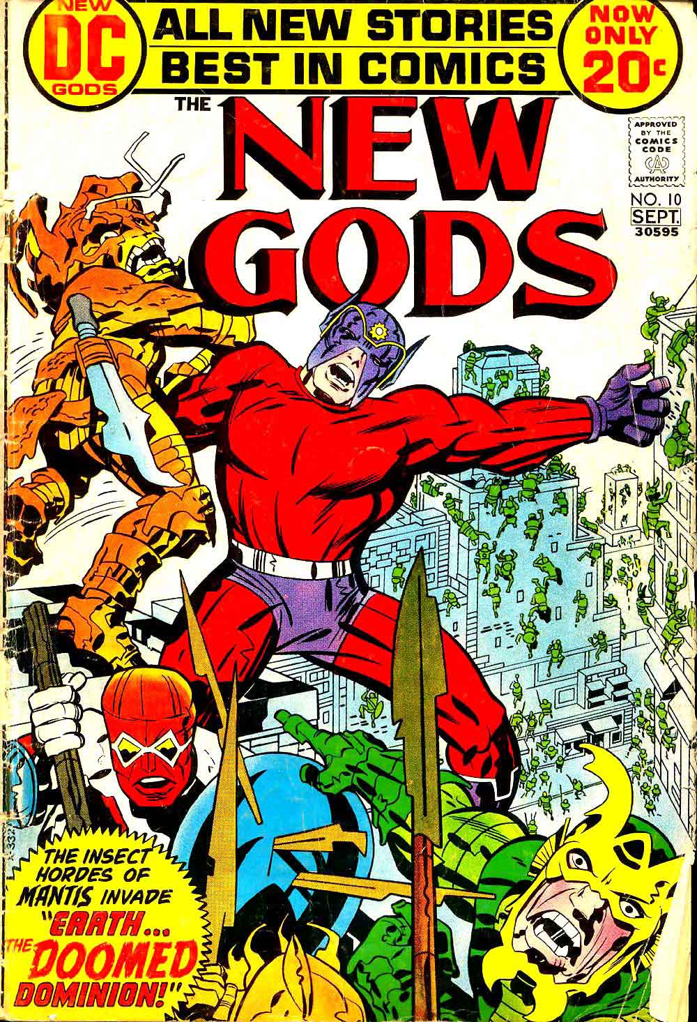 New Gods v1 #10 dc bronze age comic book cover art by Jack Kirby