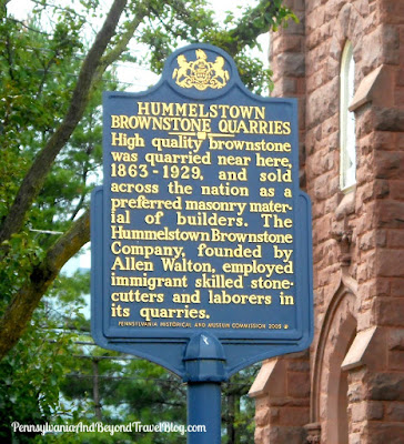 Hummelstown Brownstone Quarries Historical Marker in Pennsylvania