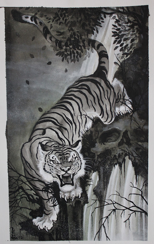 0452d6786 TIM LEHI: small ghost tiger painting 2012