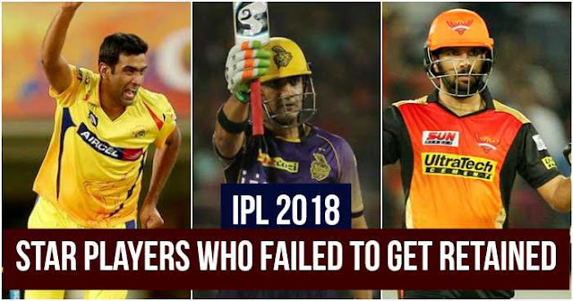 IPL 2018: 5 Star Players who failed to get Retained