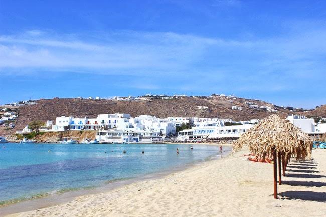 Platis Gialos pescana plaza na grckom ostrvu Mikonos