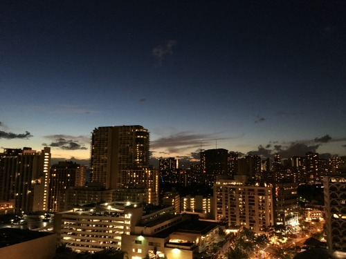 Honolulu SKY Waikiki at night