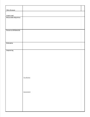 Getting Ready for Fall Free Art Education Templates ~ Artful - art lesson plans template