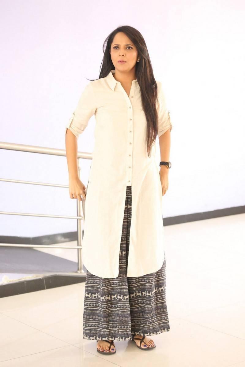 Anasuya Photos In White Dress